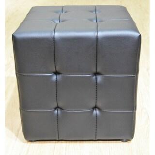 Greatime Vinyl Tufted Cube Ottoman
