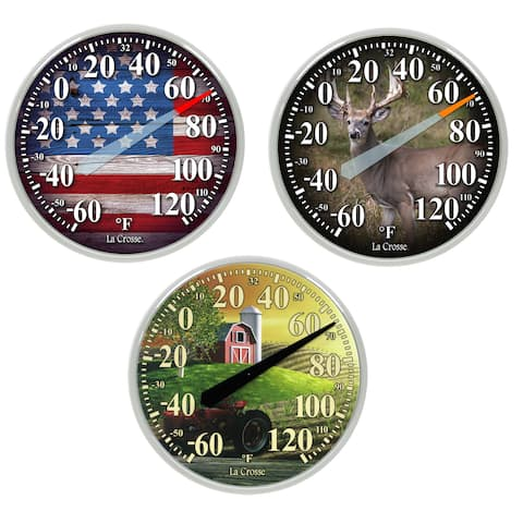 """LaCrosse 104-15143 13.5"""" Dial Thermometer Assorted Styles 4-count"""