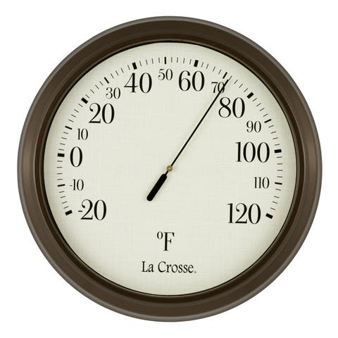"""LaCrosse Technology 104-108 8"""" Round Dial Thermometer"""