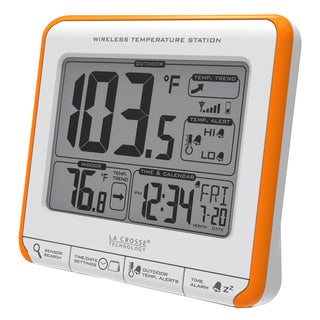 LaCrosse Technology 308-179OR Orange Wireless Thermometer