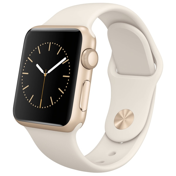 Apple Watch 38mm Gold Aluminum Case with Antique White