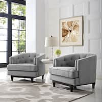Coast Set of 2 Button Tufted Armchairs