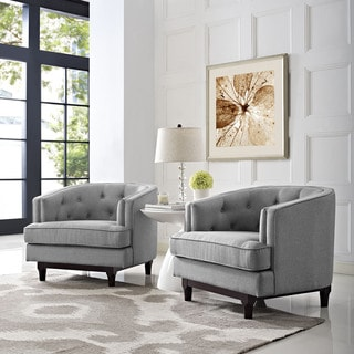 High Quality Coast Set Of 2 Button Tufted Armchairs