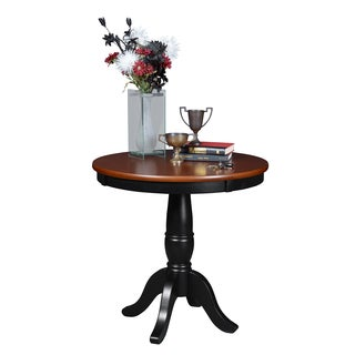 Niche Mod 30-inch Wooden Round Pedestal Table (2 options available)