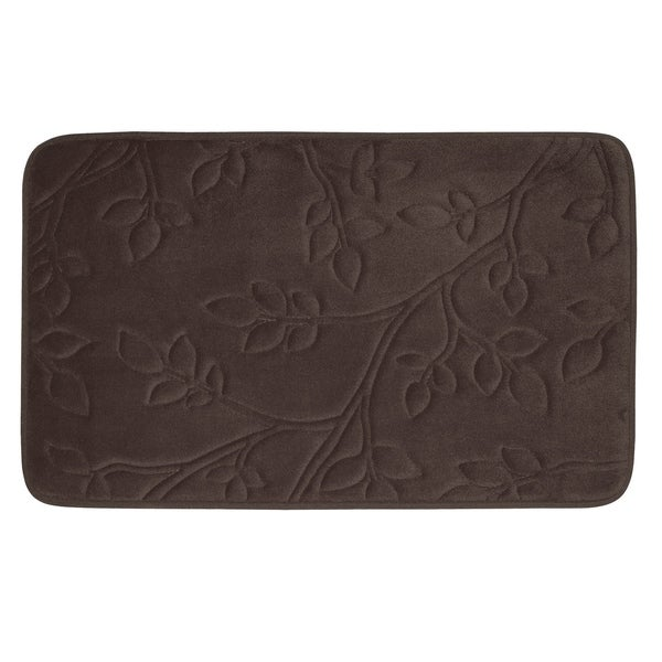 Spring Leaves Micro Plush 20 x 30-inch Memory Foam Bath Mat with BounceComfort Technology