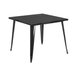 Offex Indoor-outdoor Square Metal Cafe Bar Table