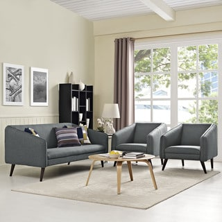 Slide Mid-Century Modern 3-Piece Living Room Set