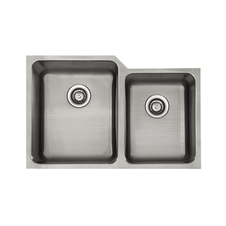 Lenova Unequal Double-basin Stainless Steel 16-Gauge Sink