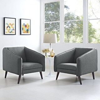 Slide Set of 2 Mid-Century Modern Armchairs