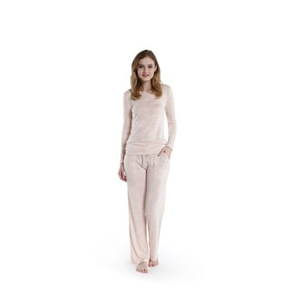 Ink + Ivy Fancy Slub Knit Long Sleeve Scoop Neck Pajama Set (3 Colors)