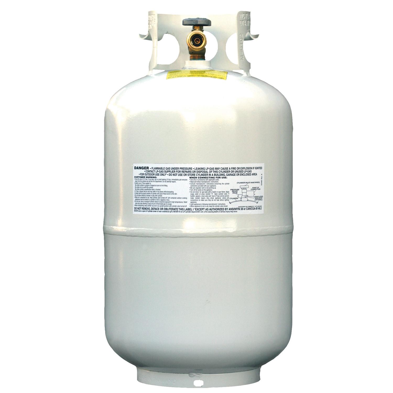 Jensen Flame King YSN-301 30 lb Propane Cylinder Tank (Ta...