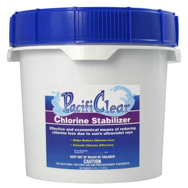 Pacifi Clear F081025025PC 25 lb. Chlorine Stabilizer Pail