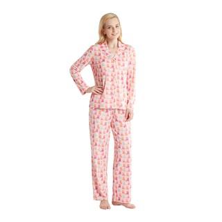 HipStyle Elke Peach Owl 3-piece Pajama Set