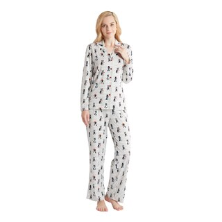 HipStyle Beatrix Red Terrier 3-piece Pajama Set