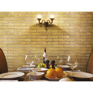 Black Label Living Castle Gold Porcelain 2 x 10-inch Floor and Wall Tile (Case of 32 / 6.24 sq ft)