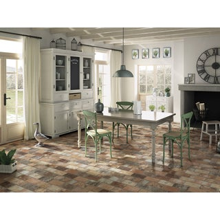 Black Label Multicolored Porcelain 2-inch x 10-inch Floor and Wall Tile (Case of 32/6.24 Square Feet)