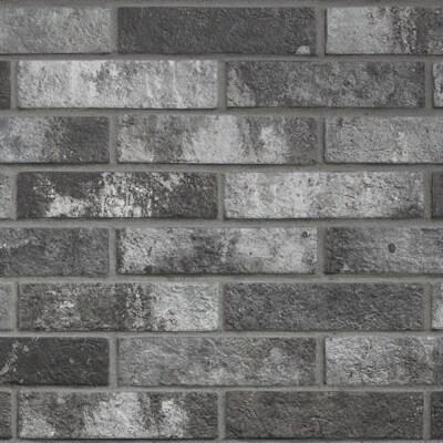 Black label living castle nero grey porcelain 2 x 10 inch for 10 inch floor tiles