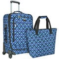 Deals on U.S. Traveler Langford Peacock-print 2-Piece Carry-on Spinner Luggage Set