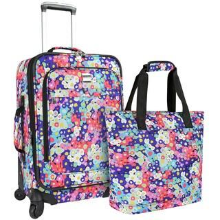 U.S. Traveler Langford Floral Print 2-piece Carry-on Spinner Luggage Set