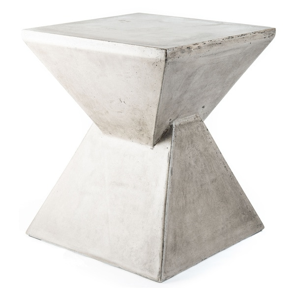 Handmade Eco-concrete Hourglass End Table (Vietnam)