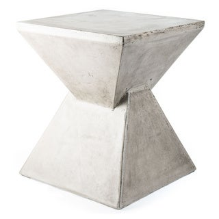 Handmade Eco-concrete Hourglass End Table (Vietnam)