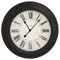 Westclox Black 24-inch Oversized Roman Numeral Wall Clock