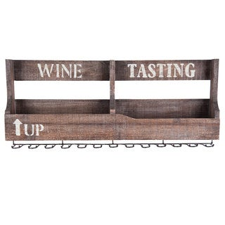 Wooden Wine Tasting Rack