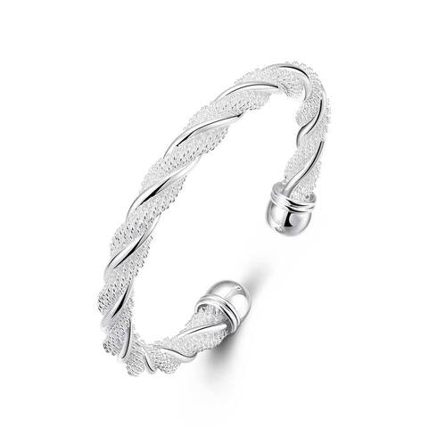 46f34c86944 Buy Bangle Sterling Silver Bracelets Online at Overstock | Our Best ...