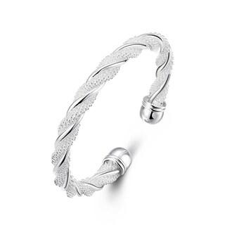 Sterling SilverTwisted Mesh Bracelet