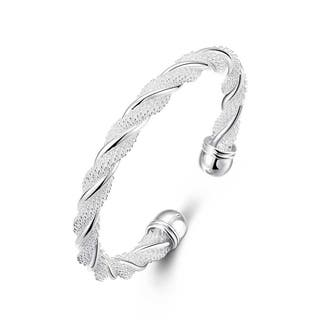 Sterling SilverTwisted Mesh Bracelet|https://ak1.ostkcdn.com/images/products/12766318/P19541211.jpg?impolicy=medium