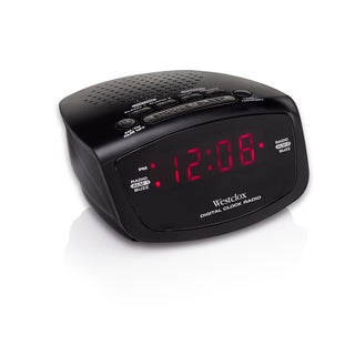 Westclox Black Plastic AM/FM Dual-alarm Clock Radio