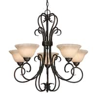 Golden Lighting Homestead #8606-5 RBZ-TEA 5-light Chandelier