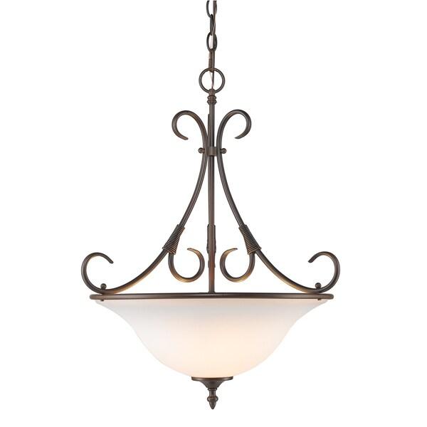 Golden Lighting's #8606-3P RBZ-OP Homestead 3-light Pendant