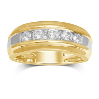 Unending Love Men's 10k Yellow Gold Diamond Band