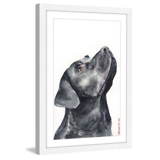 Marmont Hill - 'Black Labrador' by George Dyachenko Framed Painting Print