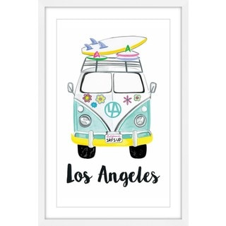 Marmont Hill - 'Surf Van' by Molly Rosner Framed Painting Print