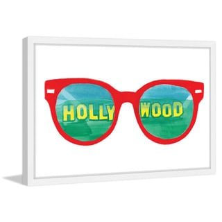 Marmont Hill - 'Hollywood Glasses' by Molly Rosner Framed Painting Print