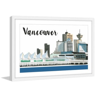Marmont Hill - 'Vancouver Skyline' by Molly Rosner Framed Painting Print