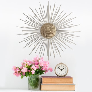 Stratton Home Decor Gold Metal Starburst Wall Accent
