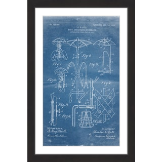 Marmont Hill - 'Sunshade 1903 Blueprint' by Steve King Framed Painting Print