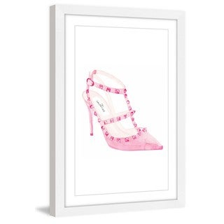 Marmont Hill - 'Rockstud Shoes' by Dena Cooper Framed Painting Print