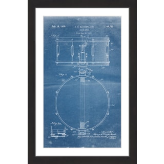 Marmont Hill - 'Snare Drum 1939 Blueprint' by Steve King Framed Painting Print