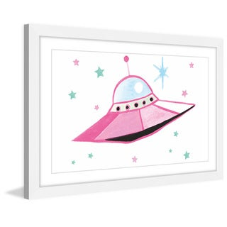 Marmont Hill - 'UFO' by Molly Rosner Framed Painting Print