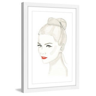 Marmont Hill - 'Red Hot Lips' by Dena Cooper Framed Painting Print
