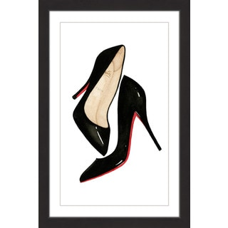 Marmont Hill - 'Red Soled Shoes' by Dena Cooper Framed Painting Print