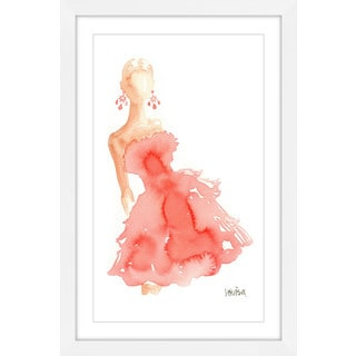 Marmont Hill - 'Peach Lady' by Lovisa Oliv Framed Painting Print