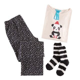 HipStyle Panda Peach 3-piece Pajama Set