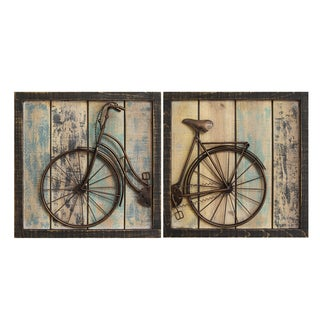 Stratton Home Decor Rustic Bicycle Wall Decor (Set of 2)