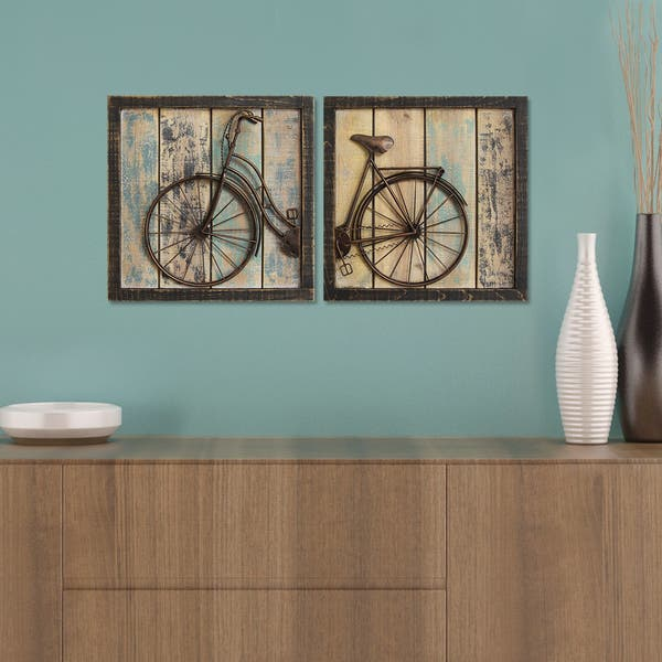 Stratton Home Decor Rustic Bicycle