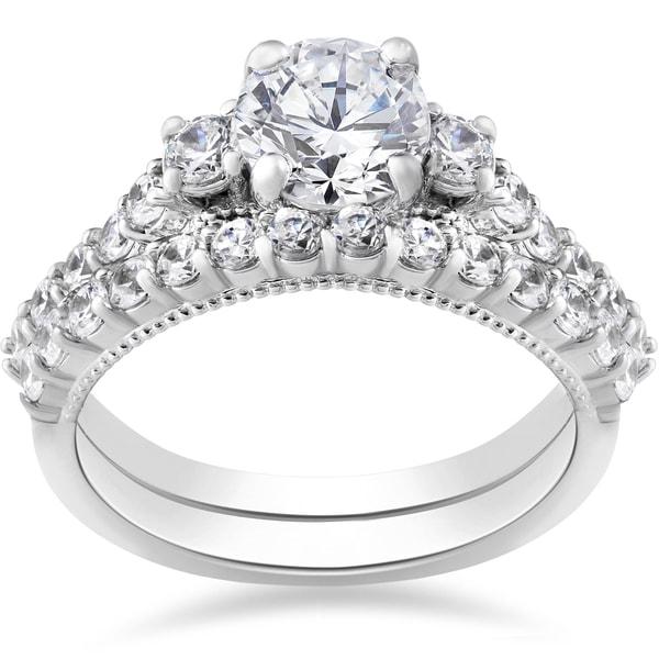 Shop 14k White Gold 2 Ct TDW Diamond Clarity Enhanced